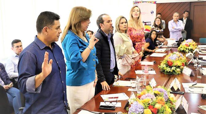 CLARA LUZ ROLDÀN, GOBERNADORA DEL VALLE Y JORGE IVÁN OSPINA, ALCALDE DE CALI, SE POSESIONARON COMO NUEVOS INTEGRANTES DEL COMITÉ ORGANIZADOR DE LOS I JUEGOS PANAMERICANOS JUNIOR CALI VALLE 2021