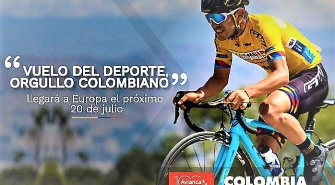 El «vuelo del deporte, orgullo colombiano» llegará a Europa el próximo 20 de julio